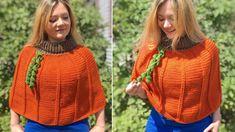 Crafty Kitty Crochet - Page 2 of 9 - Crochet Pumpkin, Crochet Fall, Free Crochet, Knit Crochet, Baby Pumpkin Costume, Baby In Pumpkin, Mermaid Ornament, Crochet Poncho Patterns, Crochet Clothes