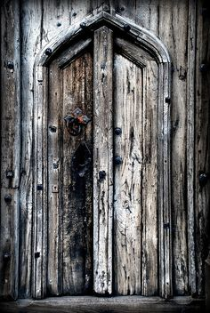 A small doorway in the main door of St Mary Redcliffe Church, Bristol.