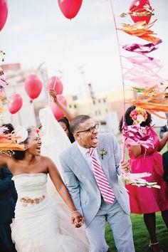 love their gorgeous fringed balloons! | Kristyn Hogan #wedding