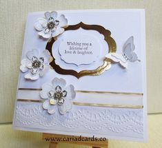 Stampin Up hand made wedding card | Flower Shop/Pansy ...