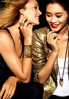 c6c5bdf1d385 Karmen Pedaru with Ming Xi for MICHAEL KORS Michael Kors Gold