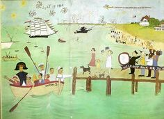 Painting by Jackie Kennedy in 1960 welcoming JFK home from the convention to Hyannis Port