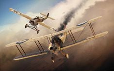 Fokker E.II vs R.A.F. BE2c, by Adam Tooby