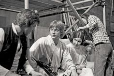 Harrison Ford, Mark Hamill and Carrie Fisher on the set of Star Wars Star Wars Luke Skywalker, Mark Hamill, Images Star Wars, Star Wars Pictures, Carrie Fisher, Harrison Ford, Star Wars Characters, Star Wars Episodes, Scene Photo