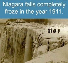 Spectacular photographs show the moment Niagara Falls FROZE Niagara Falls Facts, Niagara Falls Frozen, Wtf Fun Facts, Funny Facts, Random Facts, Funny Humor, Crazy Facts, Random Stuff, Memes Humor