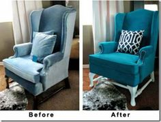 Spray painting upholstery