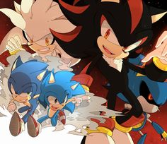 Silver, Sonic, Classic Sonic, Shadow