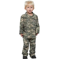 Childs Toddler Little Soldier Halloween Costume Size 2T4T