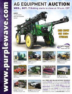 Ag Equipment Auction October 7, 2015 http://purplewave.com/a/151007