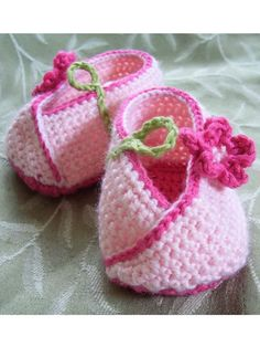 Crochet - Patterns for Children & Babies - Booties, Slippers & Socks Patterns - Kimono Flower Baby Shoes