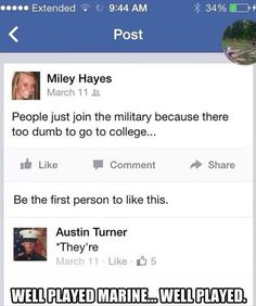 Well played marine