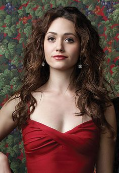 Today's Girl: Emmy Rossum | In a red strapless dress