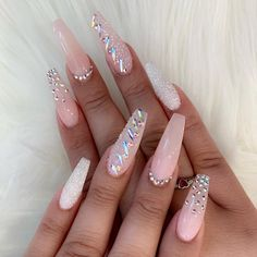 54 Simple Spring Nail Designs for Short Nails and Long Nails - Beauty - Make UP 138 creative and newest acrylic nails designs for Diamond Nail Designs, Diamond Nails, Nails With Diamonds, Rose Gold Nails, Best Acrylic Nails, Acrylic Nail Designs, Creative Nail Designs, Nagel Tattoo, Gel Nails