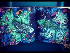 getlinkyoutube.com-Creative Background Coloring & Progress Flip Animorphia and Imagimorphia