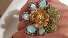 Wendy yue flower ring