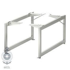 IKEA LIMHAMN Beine aus Edelstahl; (28x58cm); 2 Stück Möbelbeine Tischbeine