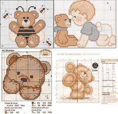 Gráficos de Ponto Cruz e Croché: Bebé