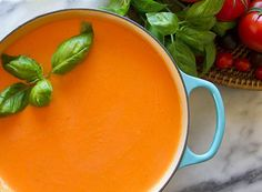 Homeade creamy tomato basil soup. Photo by Jeff Powell.