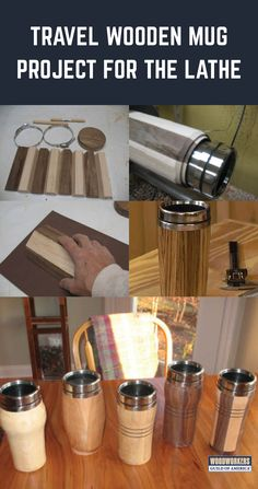 Learn how to make a wooden mug with these essential woodworking tips and techniques. Discover how to turn your own beautiful travel mug on the lathe. Diy Wooden Projects, Lathe Projects, Wood Turning Projects, Wooden Diy, Learn Woodworking, Popular Woodworking, Woodworking Plans, Woodworking Projects, Woodworking Furniture