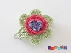 crochet hair clip for girl Hair Accessory Crochet by HowDoYouDoIt