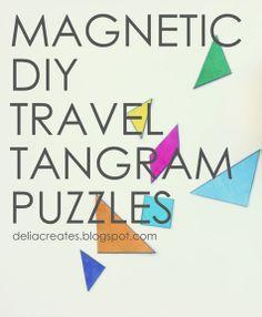 delia creates: Rainbow: Magnetic DIY Travel Tangram Puzzles