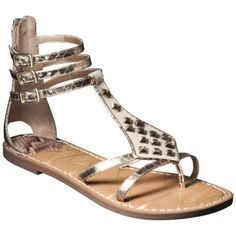 Women's Sam & Libby Karli Tall Gladiator Sandal with Triangle Studs - Gold