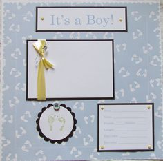 New Baby Girl Scrapbook Layouts | 20 BABY BOY Scrapbook Pages for 12x12 FiRsT YeAr ALbUm -- SWeeT CLaSSy ...