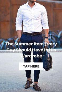 Summer Shirts Every Guy Should Own. #MensFashion #Menswear
