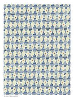 Pattern for Hartford   Julie Hermant, textile designer