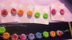 Fun Summer Rose Bracelets by mollylong2 on Etsy, $10.00