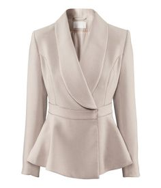 Peplum jacket...so chic!