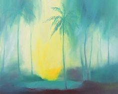 Original Oil Abstract Painting. Tropical by TarasFiminGallery
