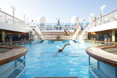 The Lotus Spa pool on the Emerald Princess #travel #PrincessCruises