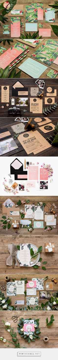 Just loving the color scheme of this stationery! #pinkandgreen