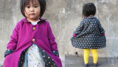 A step by step tutorial to sew an adorable reverible coat for a child.   Go To Sew Website full of patterns, free or for purchase