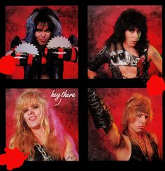 The original four members of W.A.S.P. in their full shock rock glory. Hair Metal Bands, Hair Bands, Heavy Metal Rock, Rock Groups, Rockn Roll, Music Icon, 80s Music, Iron Maiden, Wasp