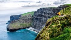 A #tbt to a recent trip to Ireland -- truly one of the world's most beautiful countries. . There is no experience like sitting atop its western cliffs as the rains move through and seabirds dive and swoop precariously below you. At first my apprehension was captured by the sight of the distance to the water below. But the distance that captured my imagination was the one toward the horizon: Beyond that far-off line there is nothing. The vast blue Atlantic stretches on for distances that for…