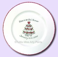 Little Miss Arty Pants - Hand Painted Pottery - Signature Plates