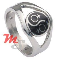 Lesbian Pride Stainless Steel Ring at http://overtherainbowshop.com/rings.htm Very cute and petite yin yang design stainless steel ring. This adorable and delicate design features an all stainless steel crafted ring with black enamel finish to highlight the yin & yang design.$15.95