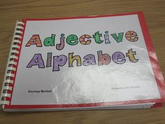 Fun way for adjectives, how about antonyms, synonyms, homophones, nouns (common vs. proper), pronouns, etc. You could create a whole class library and then auction them off at the end of the year!