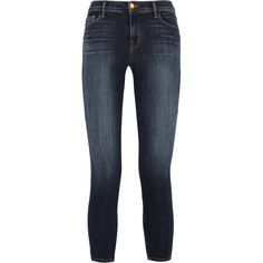 J Brand 835 cropped mid-rise skinny jeans ($290) ❤ liked on Polyvore featuring jeans, pants, jeans/pants, calça, dark blue, stretch skinny jeans, skinny fit jeans, mid-rise jeans, denim skinny jeans and dark blue jeans