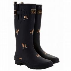 Possible new Wellies?  Joules Marine Navy Women's Printed Welly Rain Boots by Muck Boots Online.com