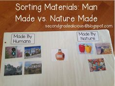 Secondgradealicious: Materials, Objects, and Everyday Structures....a Science Inquiry and sorting man made vs. nature made materials