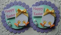Spring/Easter Chick Embellishments by sarasscrappin on Etsy