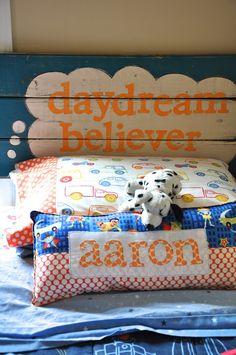daydream believer... {headboard from scrap wood}