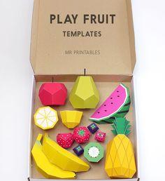 Awesome play fruit printable templates.