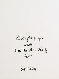 Positive Quotes : Wberythibg you want is on the other side of fear. - Hall Of Quotes Words Quotes, Wise Words, Life Quotes, Sayings, Faith Quotes, Positive Quotes, Motivational Quotes, Inspirational Quotes, Favorite Quotes