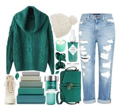 """""""BRRR"""" by strayalley ❤ liked on Polyvore featuring Topshop, Genetic Denim, Merona, Jamie Young, Urban Decay, HAY, Herbivore Botanicals and adidas Originals"""