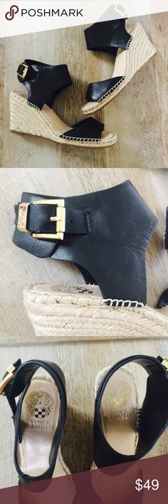 9cd60d3c5a4 Vince Camuto Tomell Wedges • In good used condition. Normal signs of wear.
