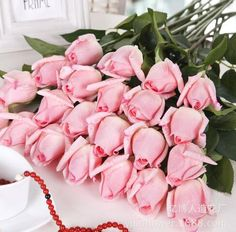 3 Heads Latex Rose Small Buds Artificial Flowers Real Touch Rose Flowers Home Decorations For Wedding Party Or Birthday Always Buy Good Clothing, Shoes & Accessories